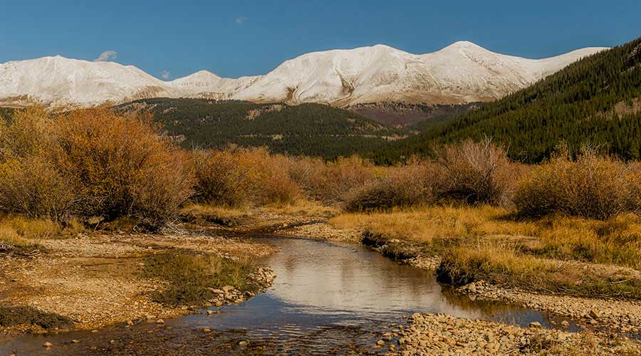 cabin's surrounding peaks
